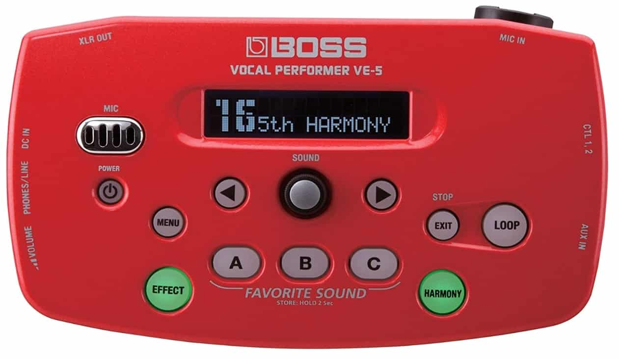 BOSS VE-5 - BEST VOCAL PROCESSORS