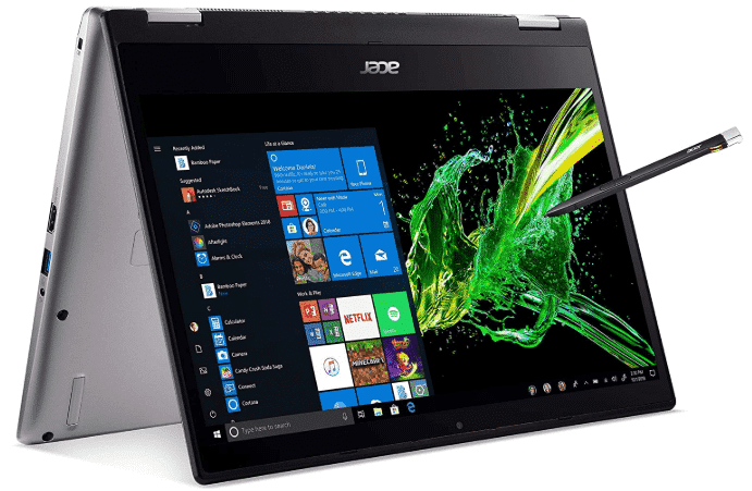 ACER SPIN 3 - best laptop for animation