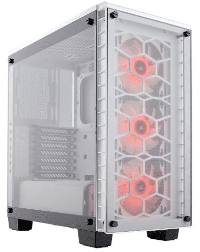 CORSAIR CRYSTAL - best white pc cases