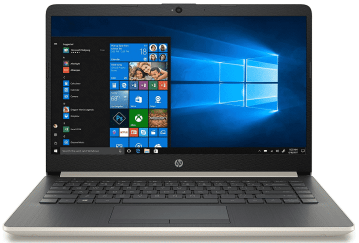 HP 2019 14 - best laptops under 600 with ssd