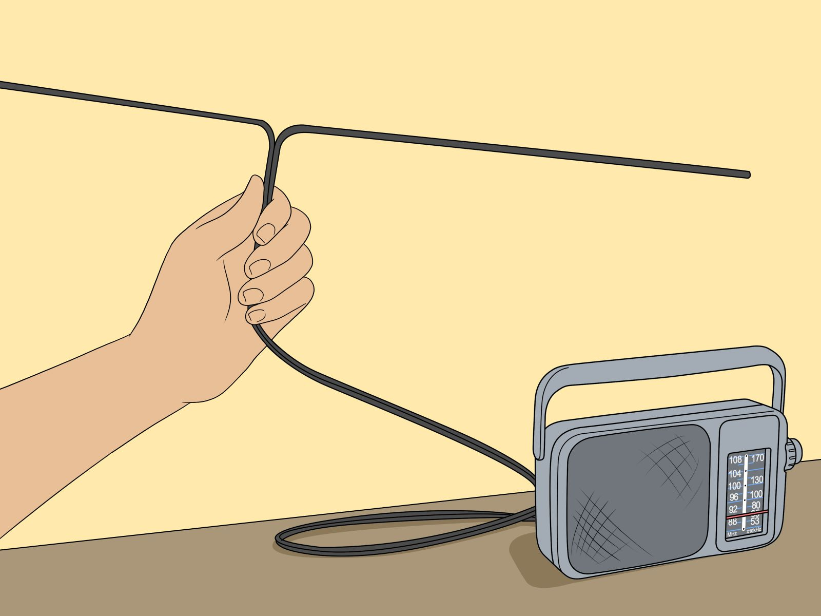 how to improve FM signal with single wire antenna