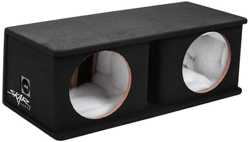 Skar Audio SK2X12V - best subwoofer box design for deep bass